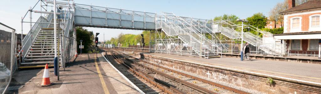 Layher Scaffolding across Railway