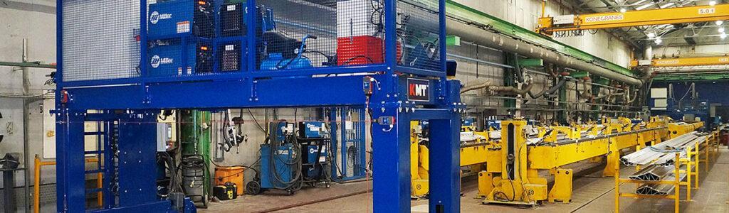 KM Tools Bombardier Welding Gantry